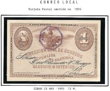 Guatemala: 1895; Postal Stationery used, cancellation: Coban, EBG075