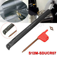 S12M-SDUCR07 12mm Lathe Turning Tool Holder Boring Bar + DCMT0702 Carbide Insert
