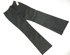 Anne Klein Black Leather Pants Hip Hugger Womens Size 6 New