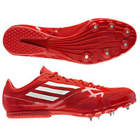 Adidas Adizero MD Schuhe Leichtathletik rot-weiß Jogging +  Spikes NEU Unisex