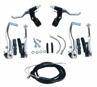 "Brake Levers V Cables Caliper Set for Mountain Road 24"", 26"" Bike Motorcycle"