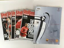 Signed Manchester United Programmes Champions League Final 2009 Full Squad