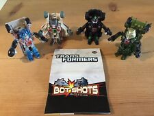 Transformers Bot Shots - 4 Figures/Vehicles Included