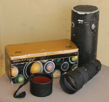 Nikon AF Nikkor 300mm F4 IF ED lens in box with case, filter and leather cover