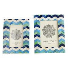 Gauri Kohli Oceania Blue Chevron Picture Frames (Twin Pack)