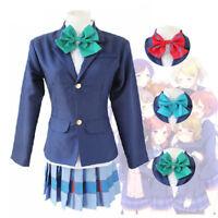 LoveLive! Love Live Tojo Nozomi School Uniform Suit Blazer Skirt Cosplay Costume