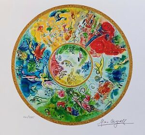 """Marc Chagall PARIS OPERA CEILING Limited Edition Facsimile Signed Giclee 13""""x17"""""""