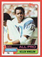 1981 Topps #150 Kellen Winslow NEAR MINT/MINT ROOKIE RC HOF San Diego Chargers