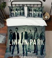 3D Linkin Park Rock Band Quilt Cover Set Pillowcases Duvet Cover 3pcs Bedding