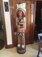 F. Gallagher 6 Foot Wood Cigar Store statue, Native American