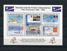 Marshall Islands 1989 BF 7 5°anniversario dell'indipendenza postale MHN