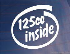 125cc INSIDE Novelty Motorcycle/Motorbike/Bike/Lawnmower Vinyl Sticker/Decal