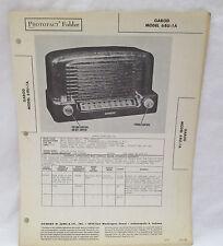 Vintage Photofact Folder Garod Model 6BU-1A Radio Parts Manual