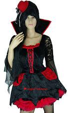 Medieval Vampire Vampiress Circus Lady Ringmaster Fancy Dress Costume M 10 12 14
