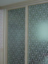White Clear Persia Pattern Frosted Frosting Window Film 24hrs Privacy 92cm/m