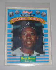 Hank Aaron Atlanta Braves Kelloggs Corn Flakes 3D Card FREE SHIPPING