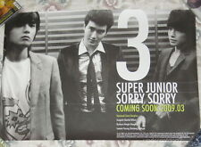 Super Junior Sorry 2009 Taiwan Promo Poster (A ver.) RyeoWook SiWon DongHoe
