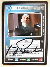 Autographed Star Trek ccg -  E.M.H. Program  (Robert Picardo) black ink
