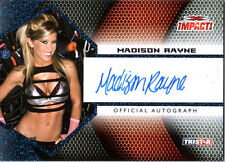 TNA Madison Rayne 2009 Tristar Impact BLUE Authentic Autograph Card SN 6 of 25