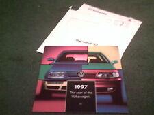 JULY to DECEMBER 1997 VW UK CALENDAR - Golf Polo Vento Passat Sharan BROCHURE
