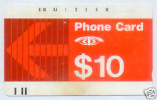 1985 Singapore Telecom $10 Phone Card 1st Generation Magnetic MCT Cardphone