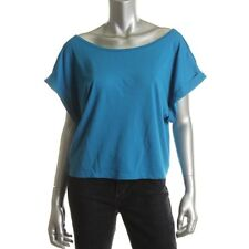 Famous Catalog Blue Knit Crop Cuff Sleeves Pullover Top Shirt XL - NEW