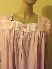 Eileen west Nightgown 3X 100%  Cotton Jersey   Cap Sleeves Pink