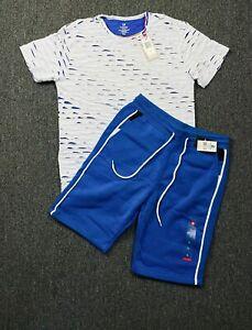 Details about  /Conjunto de deportes para hombre Pantalones cortos Camiseta que bloquea el color