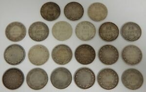 1872-1919 - New Foundland - 50 Cents - 50¢ - Lot of 21 Coins