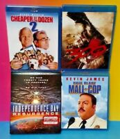 Independence Day Resurgence 300 Paul Blart Cheaper by Dozen 2 Movie Blue Ray Lot