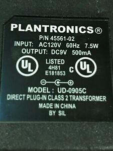 Plantronics CA10 AC Adapter 9VDC 500mA