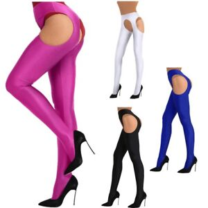 Women Hollow Out Stockings Lingerie Open Crotch Thigh-high Pantyhose Long Socks
