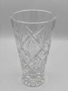 "Waterford Crystal Footed Vase Lismore Pattern 8"" tall 4-3/4"" wide-Just Stunning!"