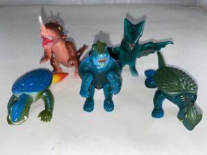 2002 Daiei Tomy Gamera vinyl figure Kaiju FULL SET Barugon Gyoas Godzilla MINT