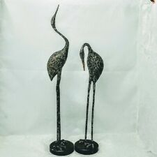 Stylized Crane Home/Garden Pair Sculpture Contemporary Bird Heron Statue SPI