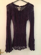 Purple Warehouse Long Sleeve Top Size 10 (1321)