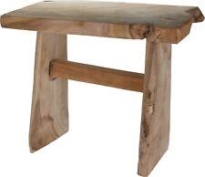 Handmade Solid Teak Wood Stool Heavyweight Solid Wood Bench Seating Rustic