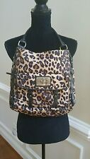 Tyler Rodan Brown Black Animal Print Handbag Purse