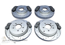 RANGE ROVER SPORT 2.7 TDV6 FRONT AND REAR DRILLED GROOVED BRAKE DISCS AND PADS