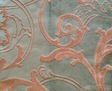 DESIGNERS GUILD Fontange turquoise scroll Belgium Remnant New