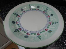 STAFFORDSHIRE TOPIARY LARGE ROUND SERVING PLATTER