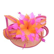 Womens Sinamay Quill Fascinator Cocktail Hat Royal Ascot Ladies' Day A268