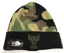 Chicago Bulls NBA New Era Fashion Camo Pom Skull Winter Beanie Knit Cap Hat