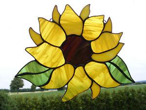 Tiffany Glasfensterbild  SONNENBLUME