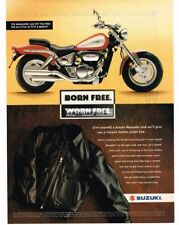 1997 SUZUKI Marauder 800 Motorcycle Leather Jacket Vtg Print Ad