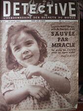 Détective n°268 (20 août 1951) Bourges, la petite Martine-  derby noir-Brétécher