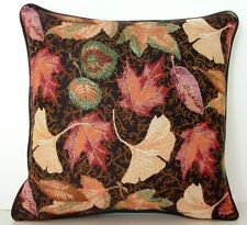 Fall /Autumn Leaves- Ginkgo, Maple, Elm & Assorted Leaves Tapestry Pillow New