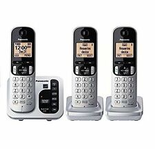 Panasonic KX-TG433SK 3 Cordless handset Phone & Answering Phones [A-]