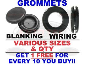 Blanking + Wiring Grommets - Rubber Open + Closed Grommet - Blind Cable Hole