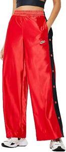 Nike Womens Sportswear Glam Dunk Icon Clash Popper Pants Red CI9972-657 Sz M